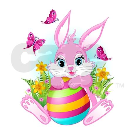 Pink-easter-bunny