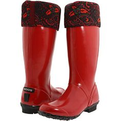 bogs rainboots red