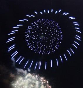 UFO花火 横浜港祭り