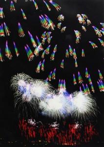 虹の流れ星 神明の花火大会