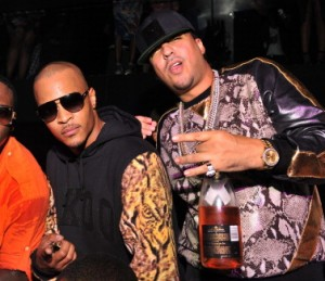 ATLANTA, GA - SEPTEMBER 26: Dro, T.I. and French Montana attend the kick off party for the 2013 BET Hip Hop Awards at Reign Nightclub on September 26, 2013 in Atlanta, Georgia. (Photo by Prince Williams/FilmMagic)