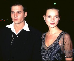 1997 jonny depp with kate moss