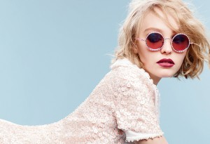 Lily-Rose Depp poses for a Chanel eyewear collection ad. Photo by Karl Lagerfield. (photo from Chanel.com)